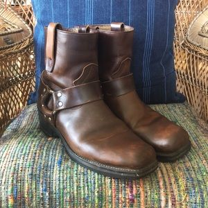 Durango Short Brown Leather Harness Boot